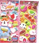 Q-Lia Marshmallow Sticker Sheet (Your Choice Hamster OR Food)~KAWAII!!!