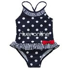Kids Girls One Piece Polka Dot Bikini Swimwear Striped Bathing Swim Suit 2T - 7