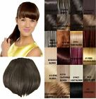 NEW LADIES STRAIGHT CLIP IN STYLISH FULL FRINGE HAIR EXTENSIONS KOKO UK