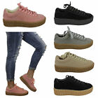 womens ladies rhianna look creepers platform chunky sole gum trainers shoes size