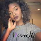 "12"" 100% Human Hair Lace Front/ Full Lace Wig Loose Body Curl Baby Hair Arround"