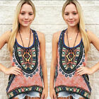 Retro Women Summer Vest Top Sleeveless Shirt Blouse Casual Tank Tops T-Shirt
