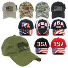 USA American Flag Baseball Cap Military Tactical Operator Embroidered Velcro Hat