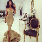 Sexy Mermaid Sweetheart Formal Dress Shiny Sequins Backless Evening Party Gowns