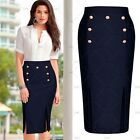 Women's Elegant Evening Party Bussiness Work Stretch Bodycon Pencil Lady Skirts