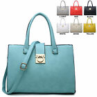 Ladies Faux Leather Handbag Work Bag Briefcase Shoulder Bag Satchel Bag M34222