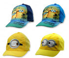 Boys Despicable Me Minion Baseball Hat Childrens Sun Peak Summer Cap 54 56 cm