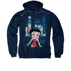 BETTY BOOP TIMES SQUARE Pullover Hooded Sweatshirt Hoodie SM-3XL $42.32 USD