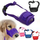 New Dog Pet Mouth Bound Device Safety Adjustable Breathable Muzzle Stop Bite AU
