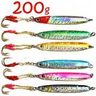 7oz Fishing butterfly Speed Knife Jigs Assist Hook 200g Metal vertical Lures lot