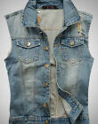 Retro Mens Denim Vest Jeans slim New fits Jacket Sleeveless Shirt Biker M-3XL