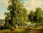 Summer Landscape (classic Finnish Nature art print)