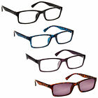 Black Blue Purple Reading Glasses With Brown Sun Reader Value 4 Pack RRRS92-1352