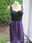 BEBE DRESS Hi-Lo Corset Top Maxi PURPLE BLACK 206114