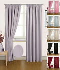 """""""MADRID"""" PAIR OF SEMI BLACKOUT READY MADE THERMAL CURTAINS LINING"""