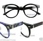 Men women Eyeglass frame optical vintage geek round 48-23 Plastic 3 colors new