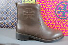 Tory Burch Simone Bootie Ankle Boots Brown Buffalo Leather NIB
