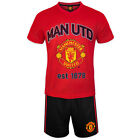 Manchester United FC Official Soccer Gift Mens Loungewear Short Pajamas