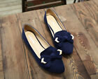 2016 Summer Womens Loafers Moccasins Flats Bowknot Pointy Toe Sheos Plus Size