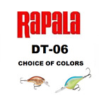 "RAPALA ( DIVES TO ) DT-06, 2"", 3/8 oz, CHOICE OF COLORS"
