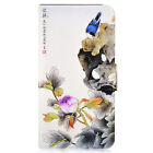 Peony Bird PU Leather Flip Case Cover For iphone #09