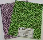 Printed PURPLE LEOPARD Cardstock 8.5 x 11 QUALITY 25 sheets