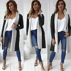 New Womens Italian Waterfall Belted Long Sleeve Coat Jacket Trench Coat Parka