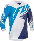 NEW 2016 FLY Racing Blue White VECTOR Jersey motocross atv off road ADULT Yamaha