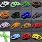 15Colors 72Pcs 6x8mm Rondelle Faceted Crystal Glass Spacer Loose Beads Findings