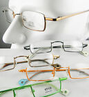 Men Women Eyeglass frames Topless metal optical black/brown/green/orange New