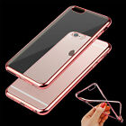 Clear Hard Silicone TPU Back Case Cover Metal Bumper For iPhone SE/6 6S/6 S Plus