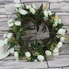 1/6/12 Artificial Silk Rose Flower Wreath Hanging Wedding Home Decor Door Hanger