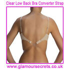 CLEAR Low Back Bra Strap Converter ONE SIZE - FULLY ADJUSTABLE - 1st CLASS P+P