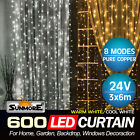 600 LED Led Curtain Fairy Lights Wedding Indoor Outdoor Christmas Garden Party
