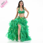 Belly Dance Costume 3pcs full set Bra Top+Hip Belt+Bubble Skirt Dancewear NEW