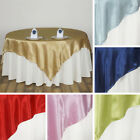 "1 Dozen SATIN SQUARE 90x90"" TABLE OVERLAYS Wedding Party Fundraiser Decorations"