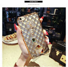 Luxury Bling Diamond Crystal Ring Holder Leather Case Cover for iPhone 6 6S Plus