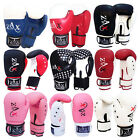 Rex Leather GEL Boxing Gloves Sparring Punch Bag Pads Grappling MMA Gloves