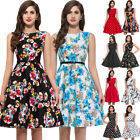 Jive Floral Swing 1950s Housewife pinup Vintage Retro Evening Cocktail TEA Dress