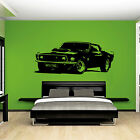 XL Large Car Ford Mustang 1969 Muscle Free Squeegee! Wall Art Decal / Sticker