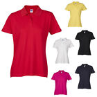 Ladies Womens Polo Tshirt Top Shirt Plain Sports Classic Short Sleeve Cotton
