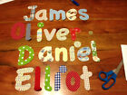 """10 cm (4"""") LARGE IRON ON fabric letters numbers kids names personalised handmade"""