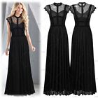 Ladies Formal Long Cocktail Evening Party Bridesmaids Lace Floral Elegant Dress
