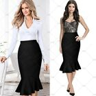 Ladies New Vintage Cocktail Party Lady Business Work Fishtail Slim Pencil Skirts