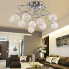 Modern Ten-Globe Artistic Aluminum Living Room Ceiling Light Semi-Flush Mount
