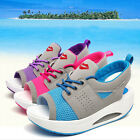 Ladies Womens Summer Sports Shoes Sandals Flat Platform Sneakers Creepers Flats