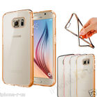 Transparent Gel Case Cover With Chrome Sides For Samsung Galaxy S6