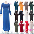 New Ladies Plain Kaftan Abaya Borkas Jilbab Burka Maxi Dress Arabian Moroccan