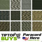550 Camo Paracord Commercial Mil Spec 7 Strand Parachute Cord 10 20 25 50 100 ft