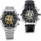 Men Luxury Stainless Steel Automatic Mechanical Wrist Watch Father's Day Gift image